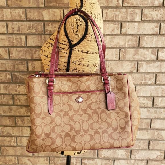 Coach Handbags - Coach Peyton Jordan double zip handbag F24603